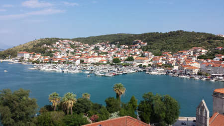 Trogir, Croatia - view of the city from the cathedral of Sts. lawrence Stock fotó