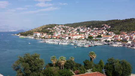 Trogir, Croatia - June 23, 2017: View of the city from the cathedral of Sts. lawrence