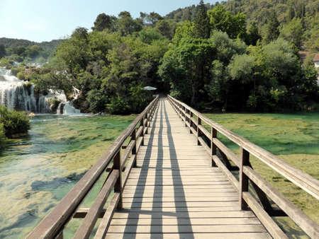 Waterfalls in the Krka National Park, Sibenik, Croatia Stock Photo