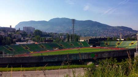 올림픽 경기장 Kosevo 사라예보, 보스니아 헤르체고비나 스톡 콘텐츠