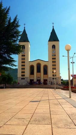 revelation: Medjugorje, Bosnia and Herzegovina - June 24, 2017: Church of St. Peter and St. Paul. James in Medjugorje. Medjugorje the place of the apparitions of Our Lady. Editorial