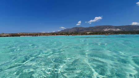 Crystal clear water on Elafonisi beach in Crete, Greece. Reklamní fotografie