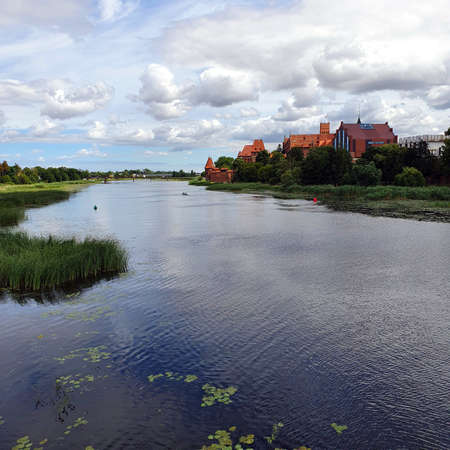 By the Nogat River in Malbork, Poland