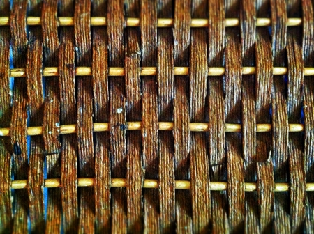 woven: Close up of a baskets texture Stock Photo