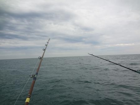 rocky point: La pesca con gli amici a Rocky Point Archivio Fotografico