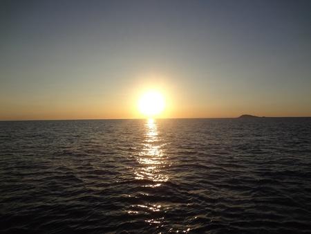 ロッキー ポイント、メキシコの美しい夕日