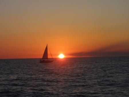 メキシコのロッキー ポイントを帆します。