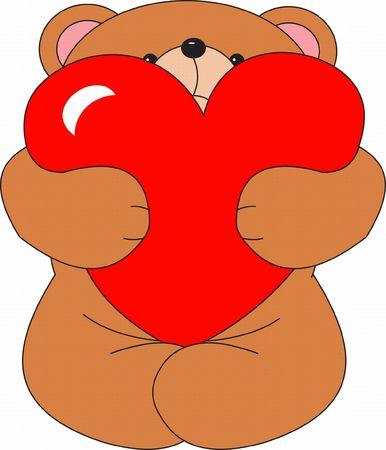 cute cartoon animals: Bear