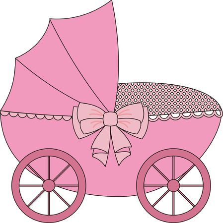 babygirl: Carriage Stock Photo
