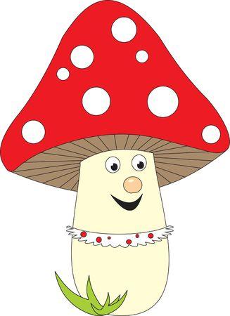 food poison: Mushroom Stock Photo
