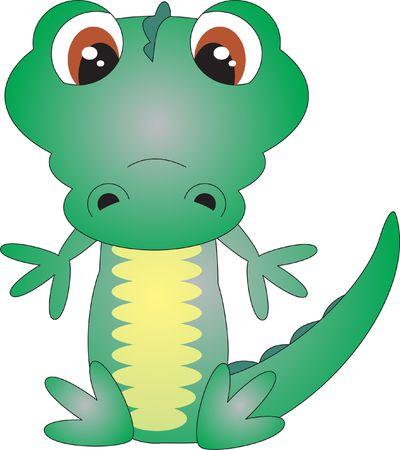 cartoon zoo animals: Crocodile