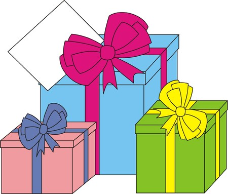 unpacking: Gifts vector
