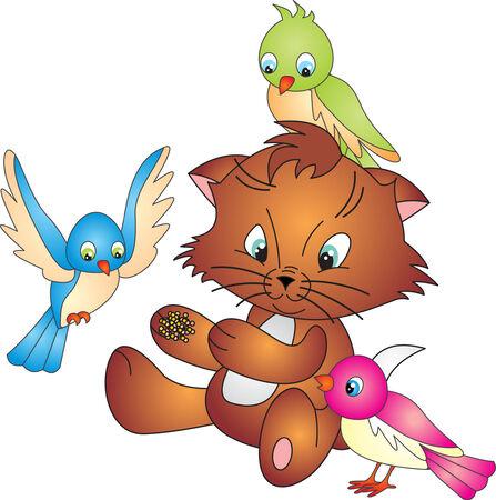 canary bird: Cat vector