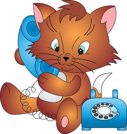 support phone: Vector de gato