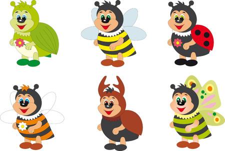 visage peint: Insectes
