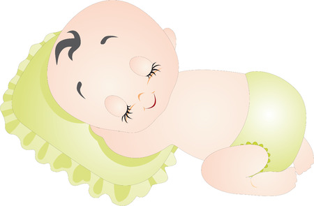 sleeping child: Baby vector