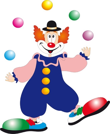 circus clown: Vector de payaso