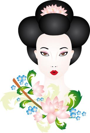 exotic woman: Geisha