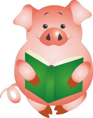working animals: Pig  Illustration
