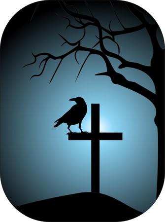 gravestone: Raven