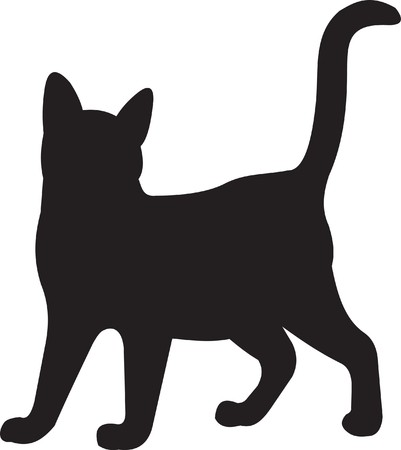 silueta de gato: Gato