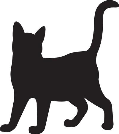 silhouette gatto: Gatto  Vettoriali