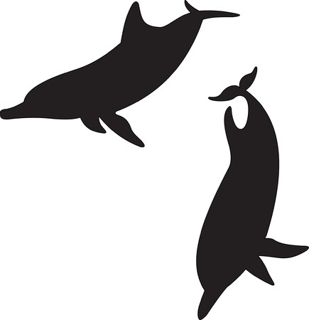 dolphin silhouette: fish