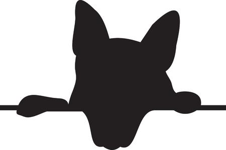 Dog silhouette Stock Vector - 8711273