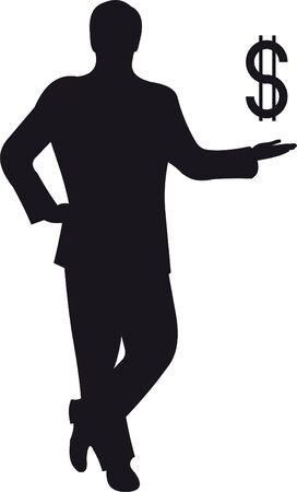 business shirts: Silueta de hombre de negocios Vectores