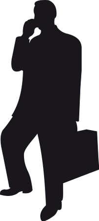suit case: Businessman silhouette Illustration