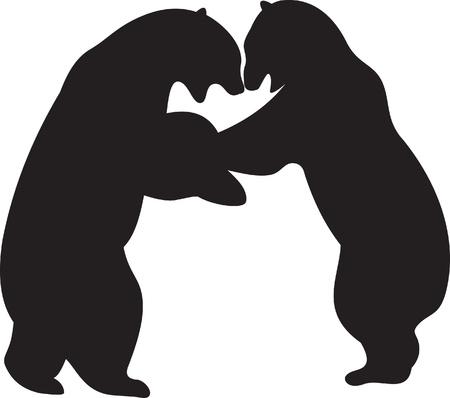bear silhouette: Bear vector