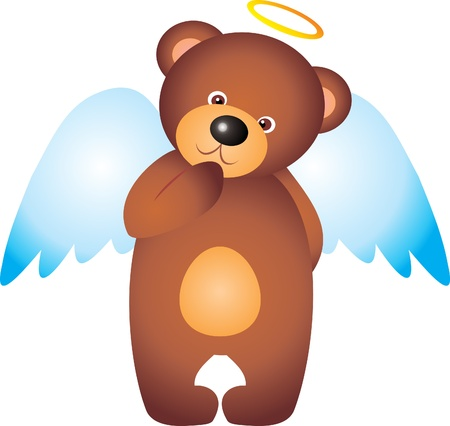 Teddy Bear Angel vector
