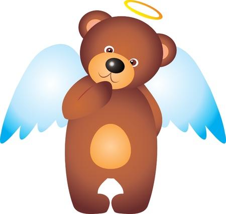 Teddy Bear Angel vector Vector