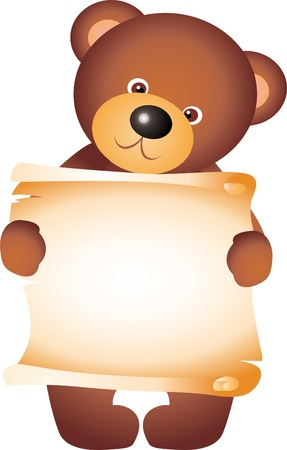 Teddy Bear with blank vector