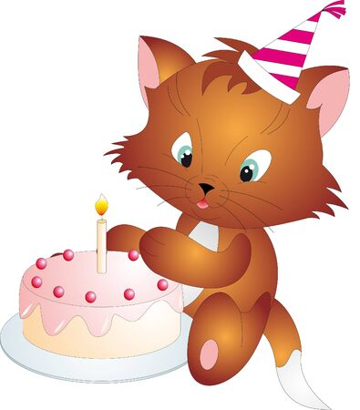 decoracion de pasteles: Vector de gato