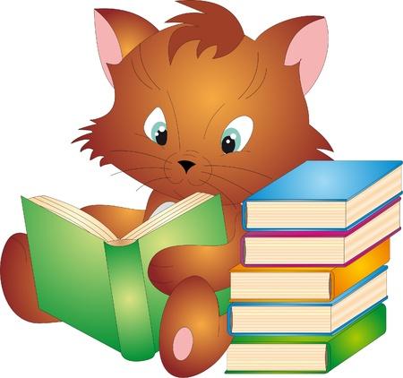 copertina libro antico: Vettore di gatto