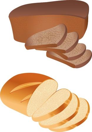 sliced: Vector de pan