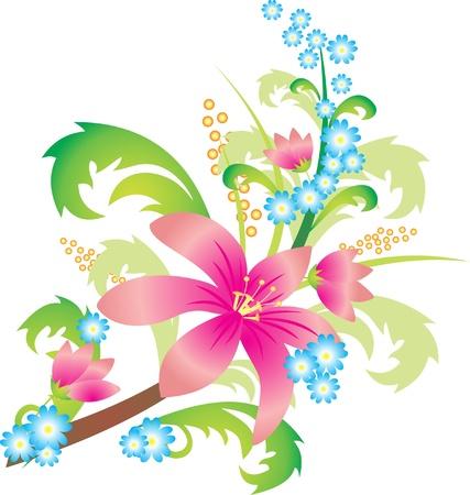 g�n�rer: Vecteur de la fleur