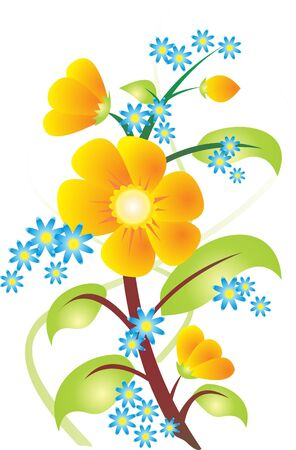 springtime flowers: Flower vector