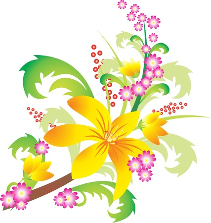Flower vector Stock Vector - 9174960