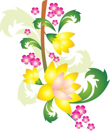 Flower vector Stock Vector - 9181678