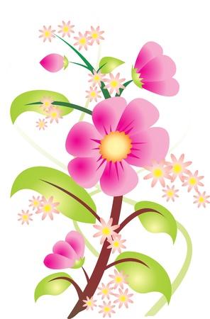 illustrated: Flower vector