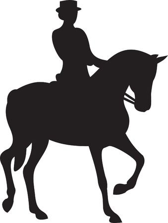 derby: horse silhouette vector