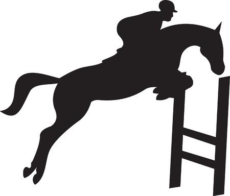 horse silhouette vector Vector