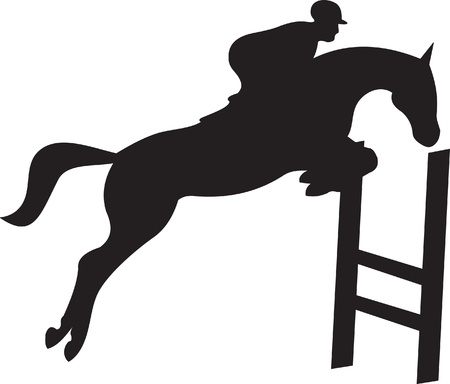 manes: horse silhouette vector