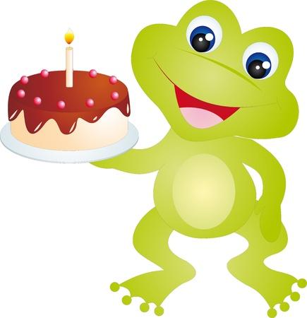 the frog prince: Vettore di rana