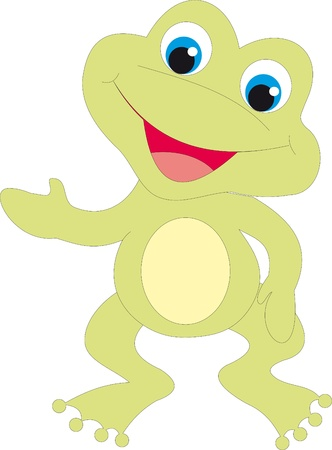 rana caricatura: Vector de rana
