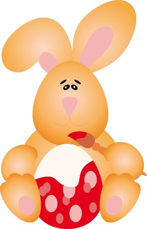 Egg and Rabbit. Easter Illustration Stock Illustration - 9353972