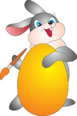 Egg and Rabbit. Easter Illustration Stock Illustration - 9353970