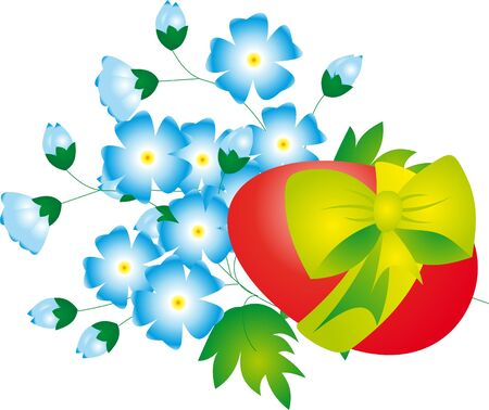 Egg and Flowers. Easter Illustration illustration